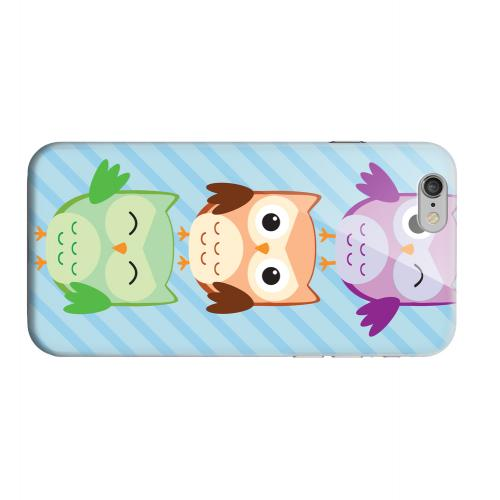 Geeks Designer Line (GDL) Apple iPhone 6 Matte Hard Back Cover - Happy Owl Pals