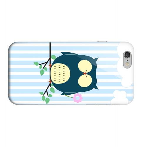 Geeks Designer Line (GDL) Apple iPhone 6 Matte Hard Back Cover - Fat Peaceful Owl on Tree Branch