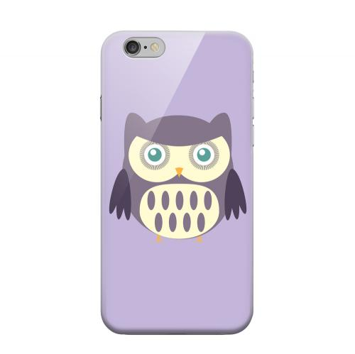 Geeks Designer Line (GDL) Apple iPhone 6 Matte Hard Back Cover - Chubby Purple Owl