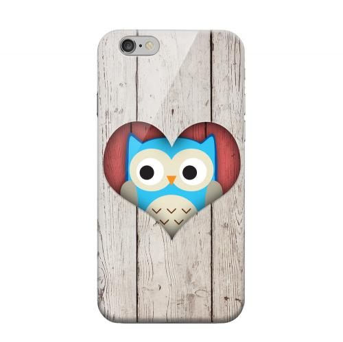 Geeks Designer Line (GDL) Apple iPhone 6 Matte Hard Back Cover - Peek A Blue Owl