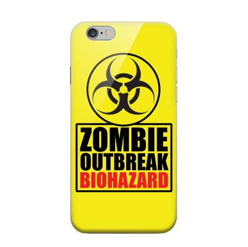 Geeks Designer Line (GDL) Apple iPhone 6 Matte Hard Back Cover - Zombie Outbreak Biohazard