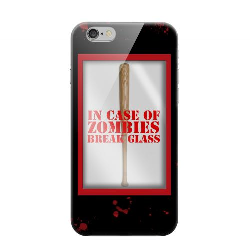 Geeks Designer Line (GDL) Apple iPhone 6 Matte Hard Back Cover - In Case of Zombies Break Glass