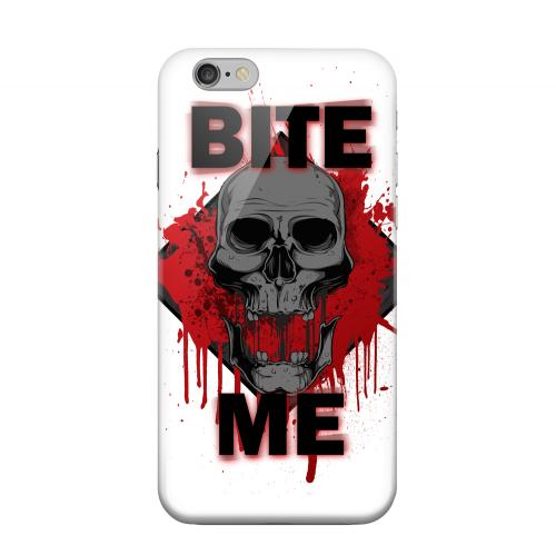 Geeks Designer Line (GDL) Apple iPhone 6 Matte Hard Back Cover - Bite Me on White