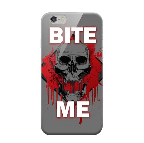Geeks Designer Line (GDL) Apple iPhone 6 Matte Hard Back Cover - Bite Me on Gray
