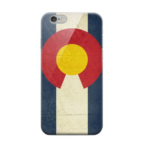 Geeks Designer Line (GDL) Apple iPhone 6 Matte Hard Back Cover - Grunge Colorado