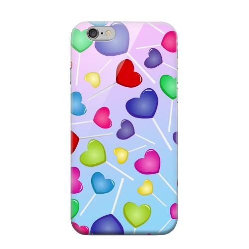 Geeks Designer Line (GDL) Apple iPhone 6 Matte Hard Back Cover - Assorted Heart Lollipops