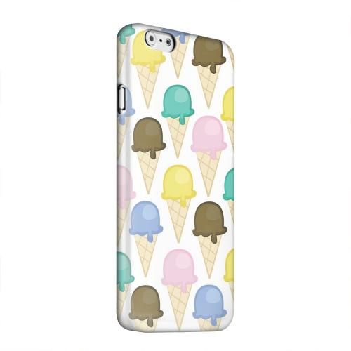 Geeks Designer Line (GDL) Apple iPhone 6 Matte Hard Back Cover - Assorted Ice Cream Cones