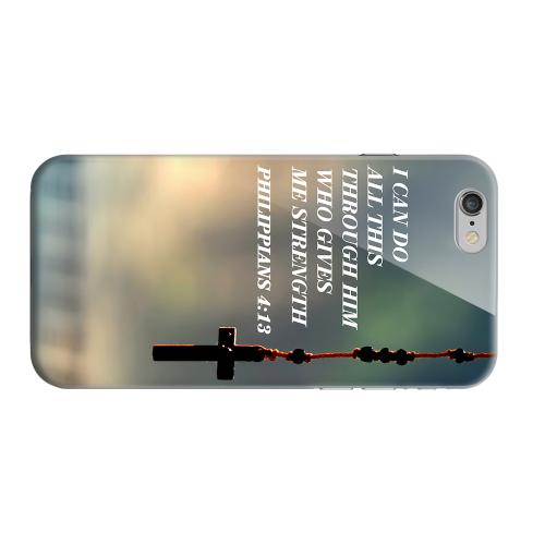 Geeks Designer Line (GDL) Apple iPhone 6 Matte Hard Back Cover - Philippians 4:13