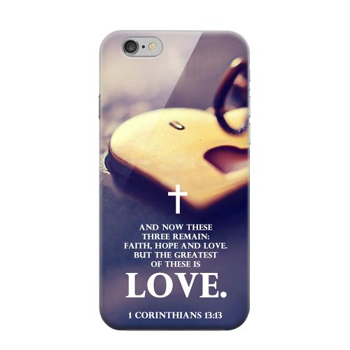 Geeks Designer Line (GDL) Apple iPhone 6 Matte Hard Back Cover - Corinthians 13:13