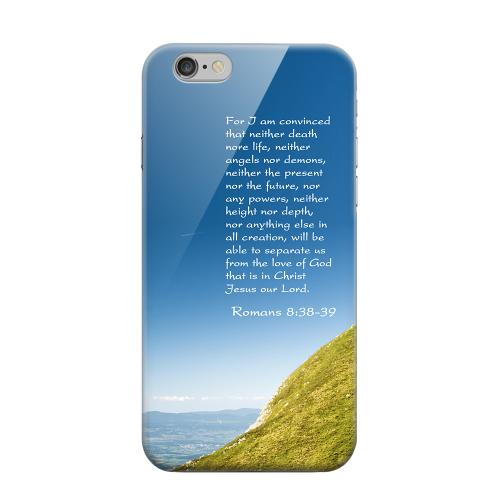 Geeks Designer Line (GDL) Apple iPhone 6 Matte Hard Back Cover - Romans 8:38-39