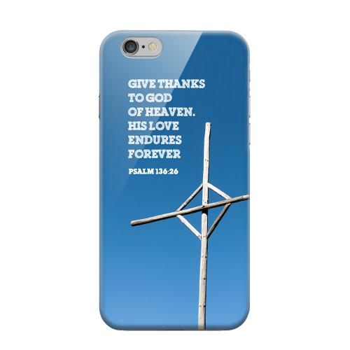Geeks Designer Line (GDL) Apple iPhone 6 Matte Hard Back Cover - Psalm 136:26