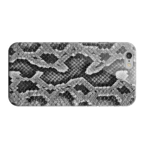 Geeks Designer Line (GDL) Apple iPhone 6 Matte Hard Back Cover - Gray Snake Skin