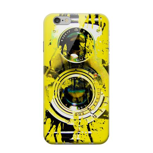 Geeks Designer Line (GDL) Apple iPhone 6 Matte Hard Back Cover - Chaotic Yellow Camera