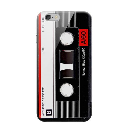 Geeks Designer Line (GDL) Apple iPhone 6 Matte Hard Back Cover - Black Acoustic Cassette