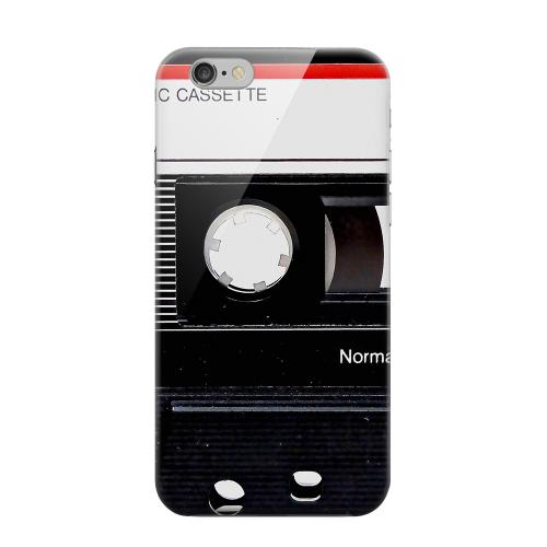 Geeks Designer Line (GDL) Apple iPhone 6 Matte Hard Back Cover - Black Cassette Close Up