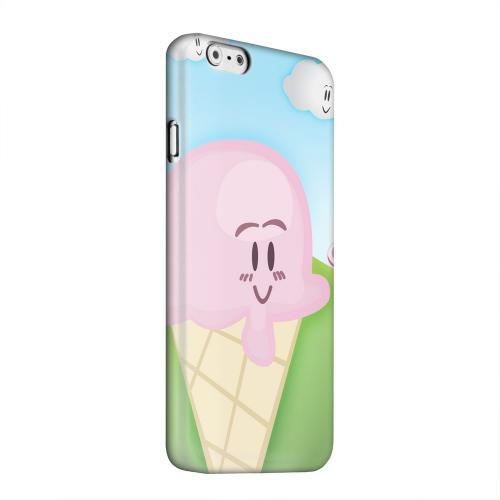 Geeks Designer Line (GDL) Apple iPhone 6 Matte Hard Back Cover - Cute Pink Ice Cream Cone