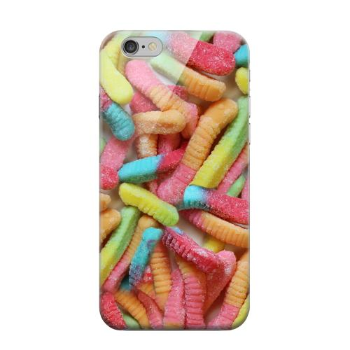 Geeks Designer Line (GDL) Apple iPhone 6 Matte Hard Back Cover - Multi-Colored Gummy Worms
