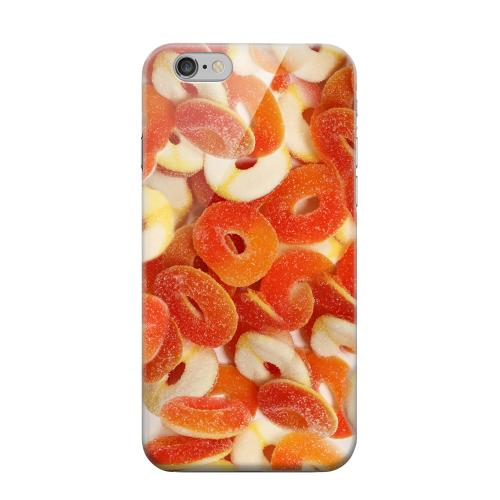 Geeks Designer Line (GDL) Apple iPhone 6 Matte Hard Back Cover - Orange/White Gummy Rings