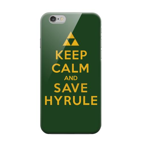 Geeks Designer Line (GDL) Apple iPhone 6 Matte Hard Back Cover - Green Save Hyrule