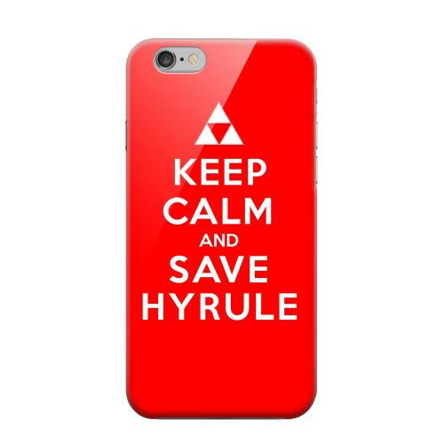Geeks Designer Line (GDL) Apple iPhone 6 Matte Hard Back Cover - Red Save Hyrule