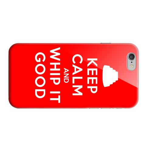 Geeks Designer Line (GDL) Apple iPhone 6 Matte Hard Back Cover - Red Whip It Good