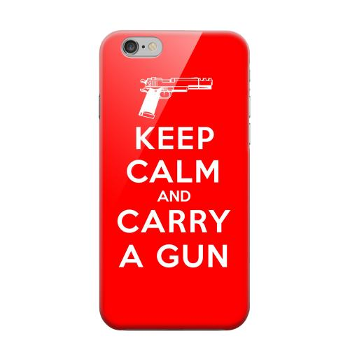 Geeks Designer Line (GDL) Apple iPhone 6 Matte Hard Back Cover - Red Carry A Gun