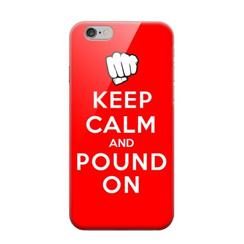 Geeks Designer Line (GDL) Apple iPhone 6 Matte Hard Back Cover - Red Pound On