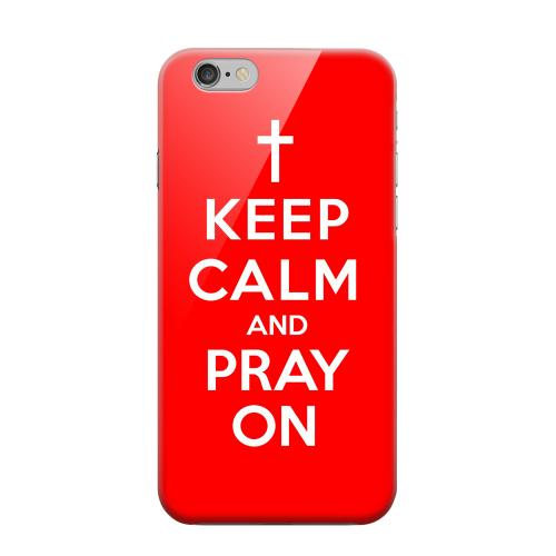 Geeks Designer Line (GDL) Apple iPhone 6 Matte Hard Back Cover - Red Pray On