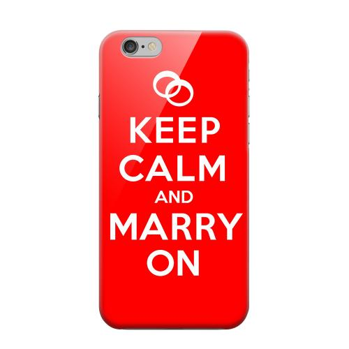 Geeks Designer Line (GDL) Apple iPhone 6 Matte Hard Back Cover - Red Marry On