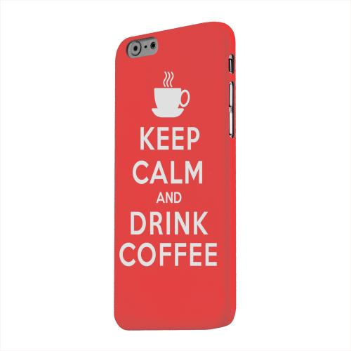 Geeks Designer Line (GDL) Apple iPhone 6 Matte Hard Back Cover - Red Drink Coffee