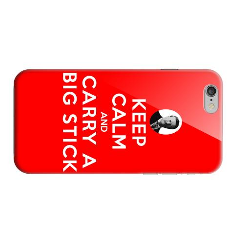 Geeks Designer Line (GDL) Apple iPhone 6 Matte Hard Back Cover - Red Carry A Big Stick