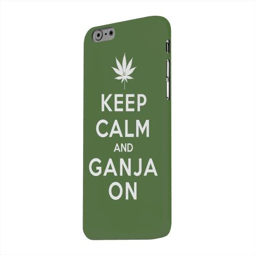 Geeks Designer Line (GDL) Apple iPhone 6 Matte Hard Back Cover - Green Ganja On