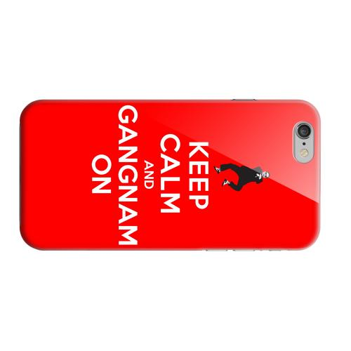Geeks Designer Line (GDL) Apple iPhone 6 Matte Hard Back Cover - Red Gangnam On