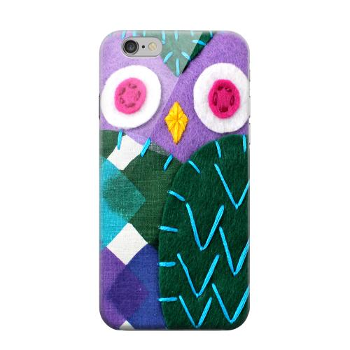 Geeks Designer Line (GDL) Apple iPhone 6 Matte Hard Back Cover - Purple/ Green Owl