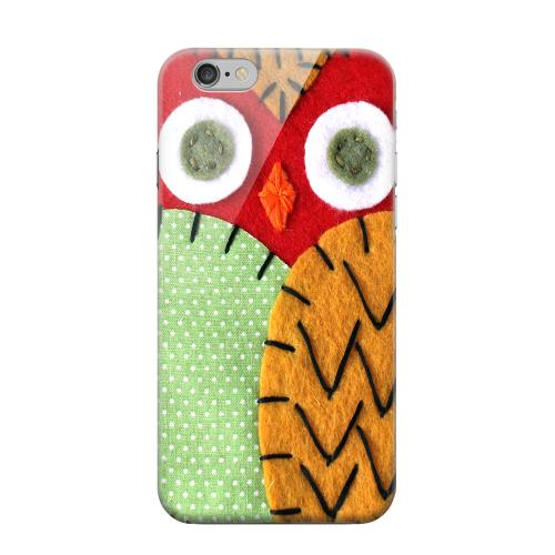 Geeks Designer Line (GDL) Apple iPhone 6 Matte Hard Back Cover - Red/ Orange Owl