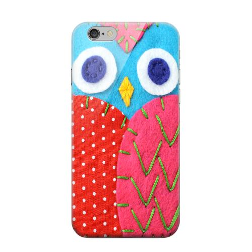 Geeks Designer Line (GDL) Apple iPhone 6 Matte Hard Back Cover - Sky Blue/ Pink Owl