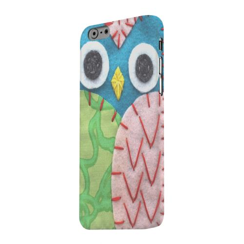 Geeks Designer Line (GDL) Apple iPhone 6 Matte Hard Back Cover - Blue/ Green Owl