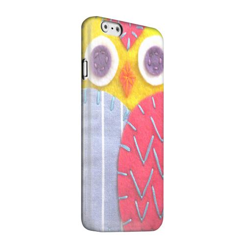 Geeks Designer Line (GDL) Apple iPhone 6 Matte Hard Back Cover - Yellow/ Pink Owl