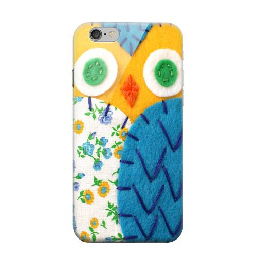 Geeks Designer Line (GDL) Apple iPhone 6 Matte Hard Back Cover - Gold/ Blue Owl