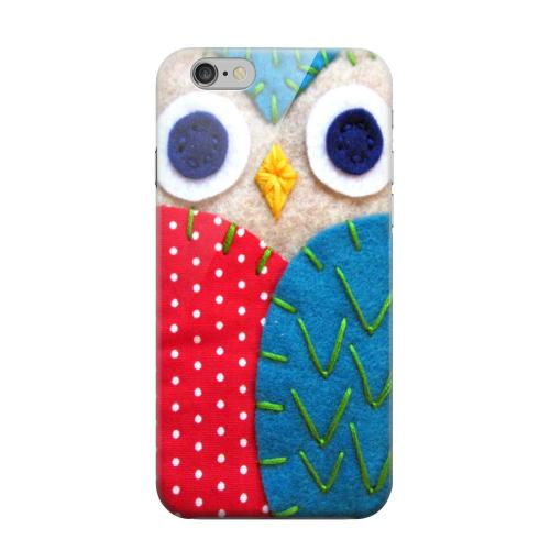 Geeks Designer Line (GDL) Apple iPhone 6 Matte Hard Back Cover - White/ Blue Owl