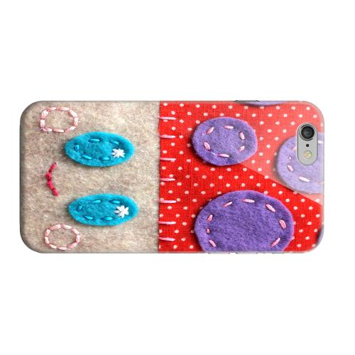 Geeks Designer Line (GDL) Apple iPhone 6 Matte Hard Back Cover - Red/ Purple Mushroom