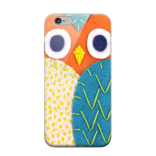 Geeks Designer Line (GDL) Apple iPhone 6 Matte Hard Back Cover - Orange/ Blue Owl