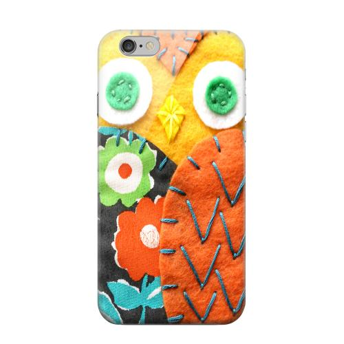 Geeks Designer Line (GDL) Apple iPhone 6 Matte Hard Back Cover - Yellow/ Orange Owl