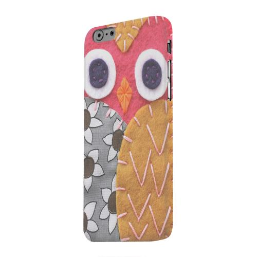 Geeks Designer Line (GDL) Apple iPhone 6 Matte Hard Back Cover - Hot Pink/ Dark Blue Owl