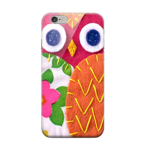 Geeks Designer Line (GDL) Apple iPhone 6 Matte Hard Back Cover - Hot Pink/ Green Owl