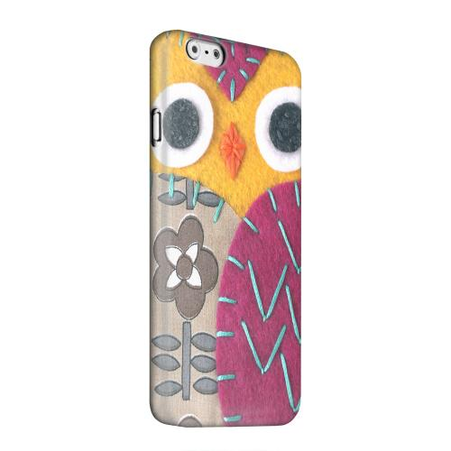 Geeks Designer Line (GDL) Apple iPhone 6 Matte Hard Back Cover - Yellow/ Purple Owl