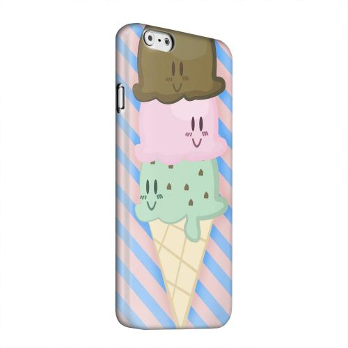 Geeks Designer Line (GDL) Apple iPhone 6 Matte Hard Back Cover - Triple Scoop Ice Cream Cone