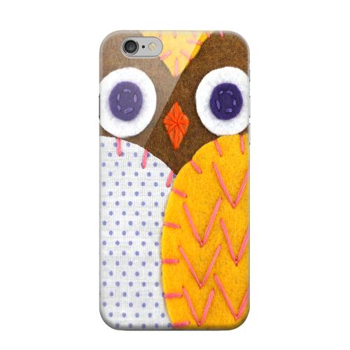 Geeks Designer Line (GDL) Apple iPhone 6 Matte Hard Back Cover - Brown/ Orange Owl