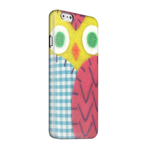 Geeks Designer Line (GDL) Apple iPhone 6 Matte Hard Back Cover - Yellow/ Maroon Owl