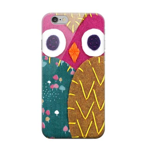 Geeks Designer Line (GDL) Apple iPhone 6 Matte Hard Back Cover - Hot Pink/ Brown Owl